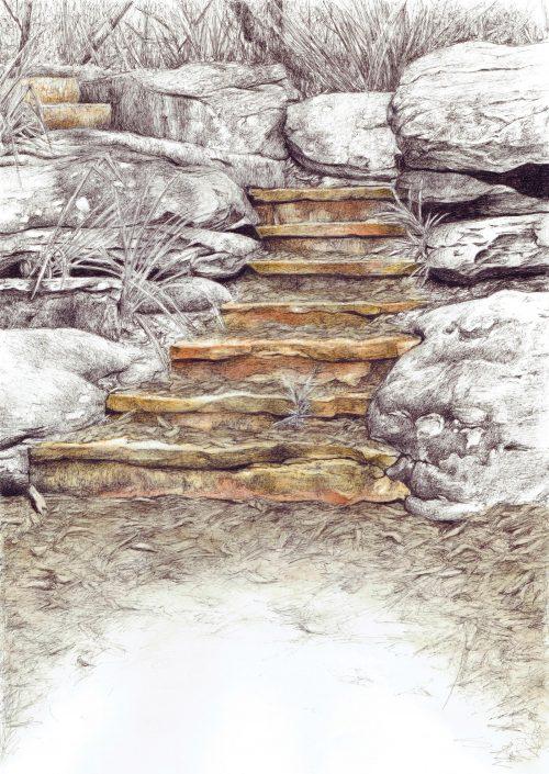 Sandstone pathway